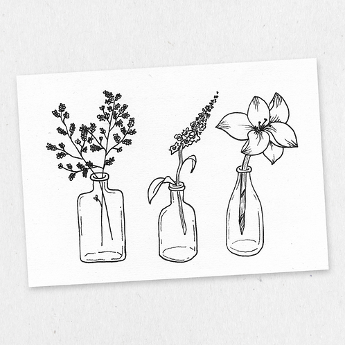 bottled flowers one