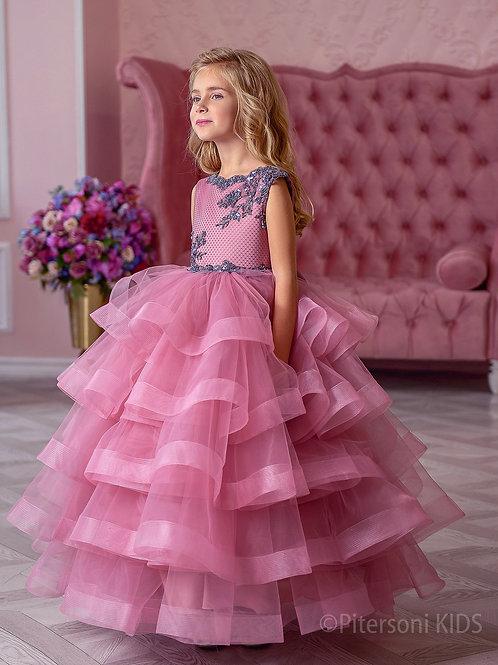Платье для девочки нарядное лилового цвета