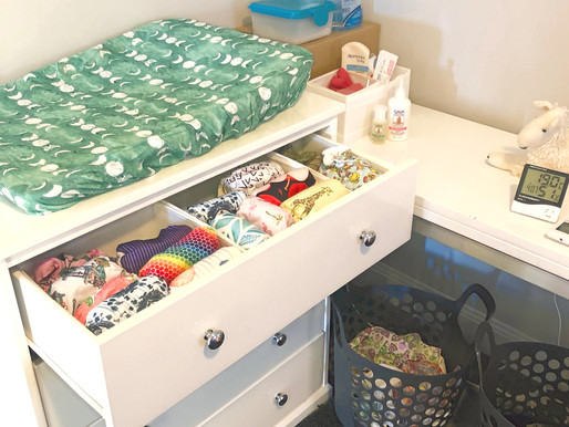 How to set up your change table for success - Cloth Mum's share their nappy storing tips