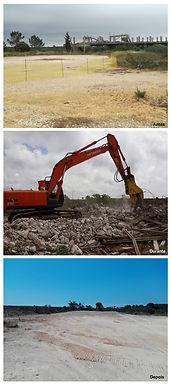 Vila Rosalinda, demolição das estruturas existentes