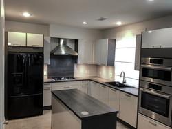 Modern high gloss kitchen, Houston