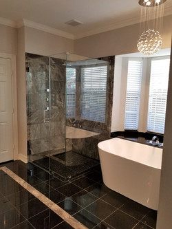 Marble and granite bathroom remodel