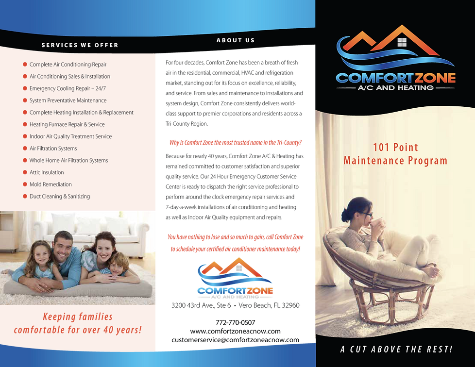 Comfort Zone Priority Club Brochure 1 of