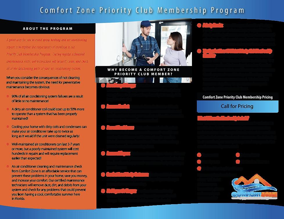 Comfort Zone Priority Club Brochure 2 of