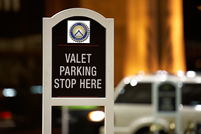 Valet Paking for Hotel sign