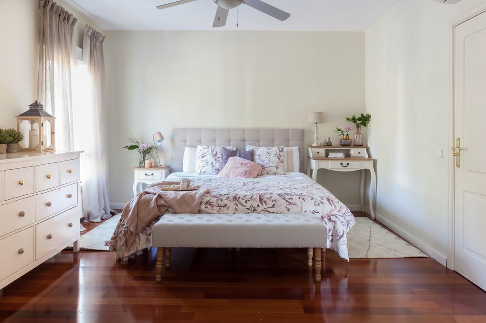 Dormitorio chic y romático
