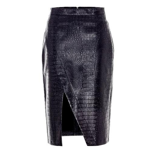 Croco Vegan Leather Skirt
