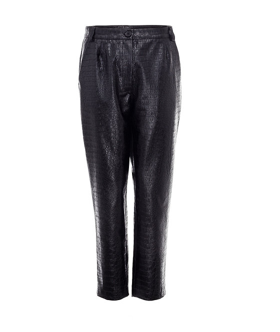 Croco Vegan Leather Trousers