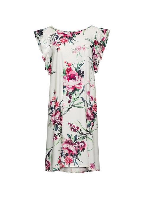White Flower Vol Dress