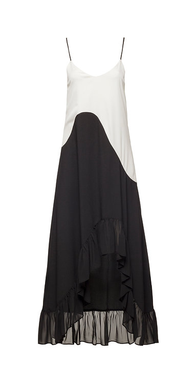 B&W Asymmetric Dress
