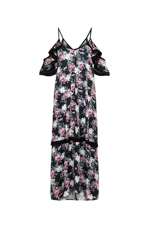 Black Print Rita Dress