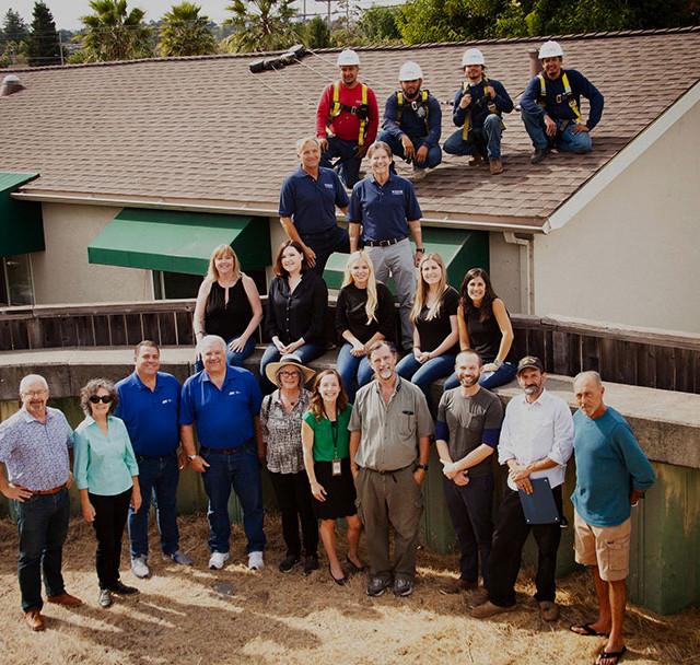 Petaluma staff and clients - a new roof!