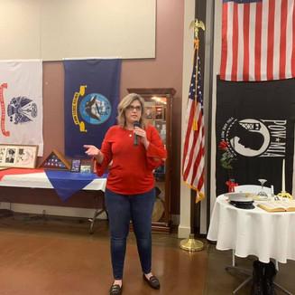 Amy in Sacramento giving a presentation