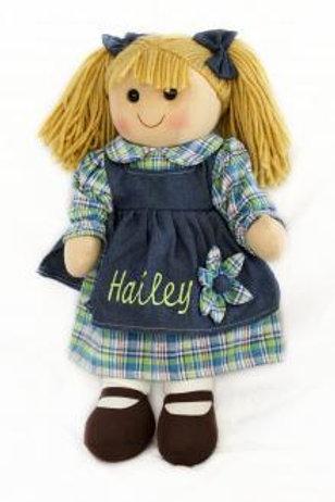 Rag Doll with Denim Dress