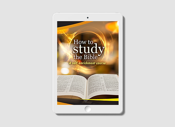 How to Study the Bible -  E-Book