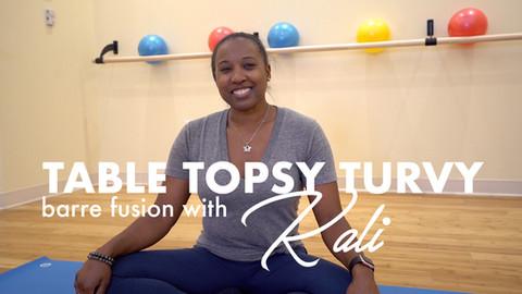 TABLE TOPSY TURVY: KALI