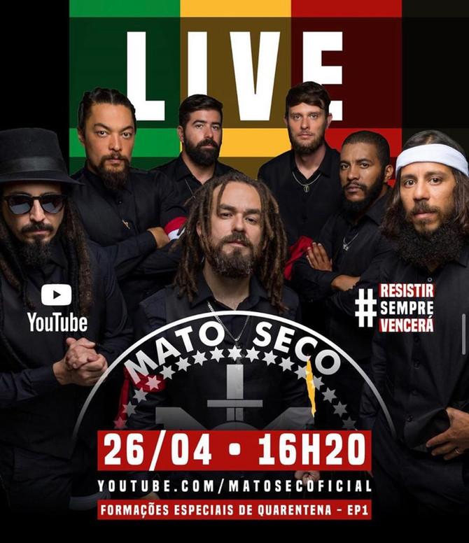 Banda Mato Seco apresenta o melhor do reggae nacional em Live beneficente