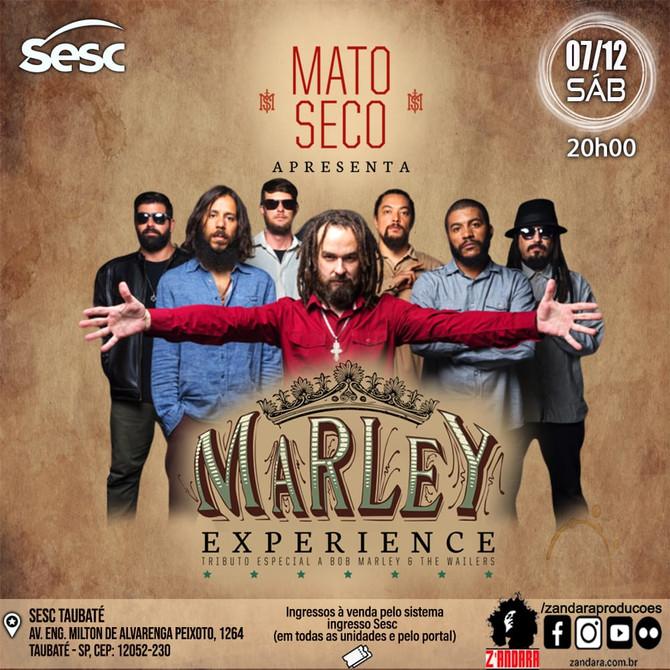 Banda Mato Seco apresenta sucessos de Bob Marley no Sesc Taubaté