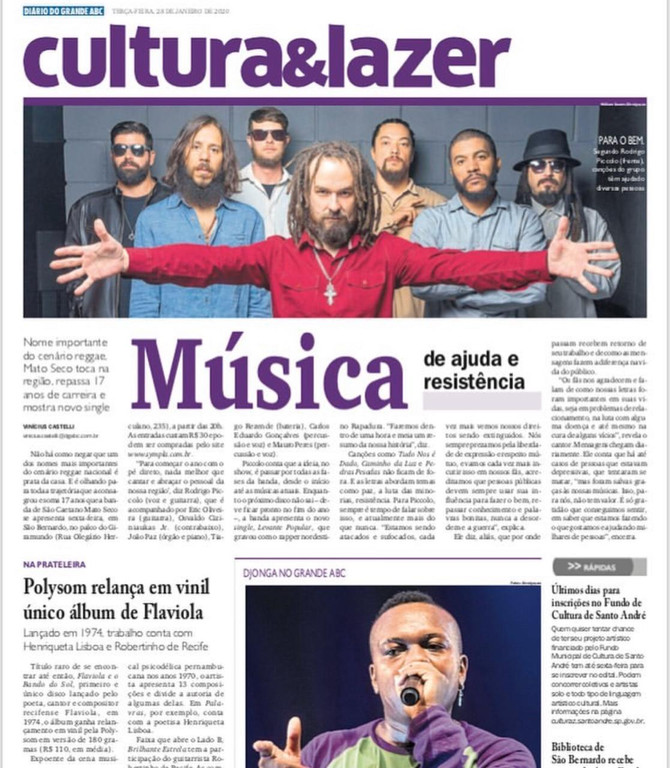 Música de ajuda e resistência   Nome importante do cenário reggae, Mato Seco toca na região, repassa