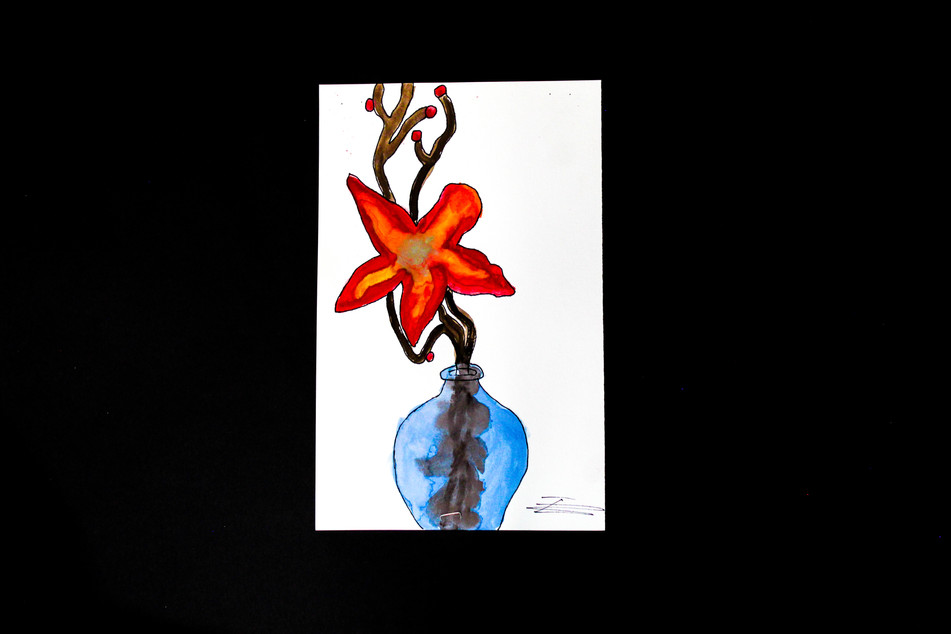 Watercolor Flower Still Life