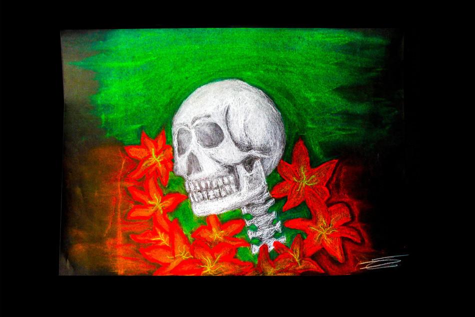 A Skull in Flowers