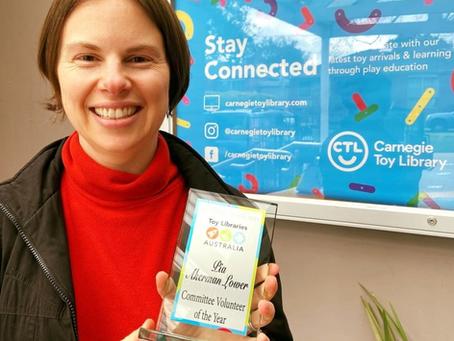 Pia wins Committee Volunteer of the year