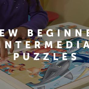 New Beginner & Intermediate puzzles