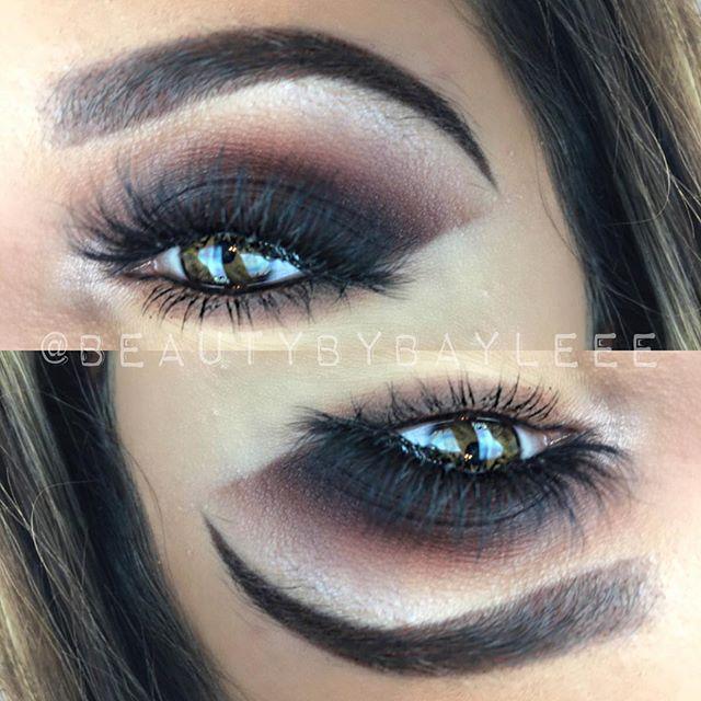 Dark purple smokey cat eye 🐱🔮 BROWS_ _benefitcosmetics Precisely My Brow in shade 4