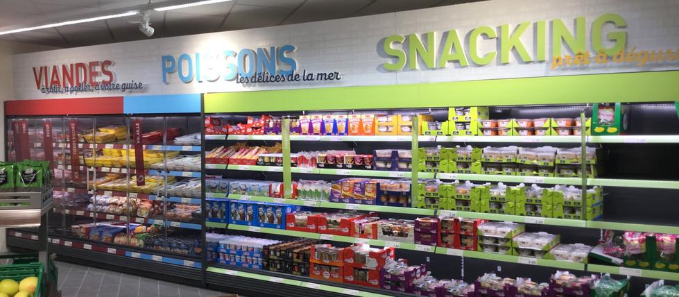 CLV-PLV rayon supermarché ALDI
