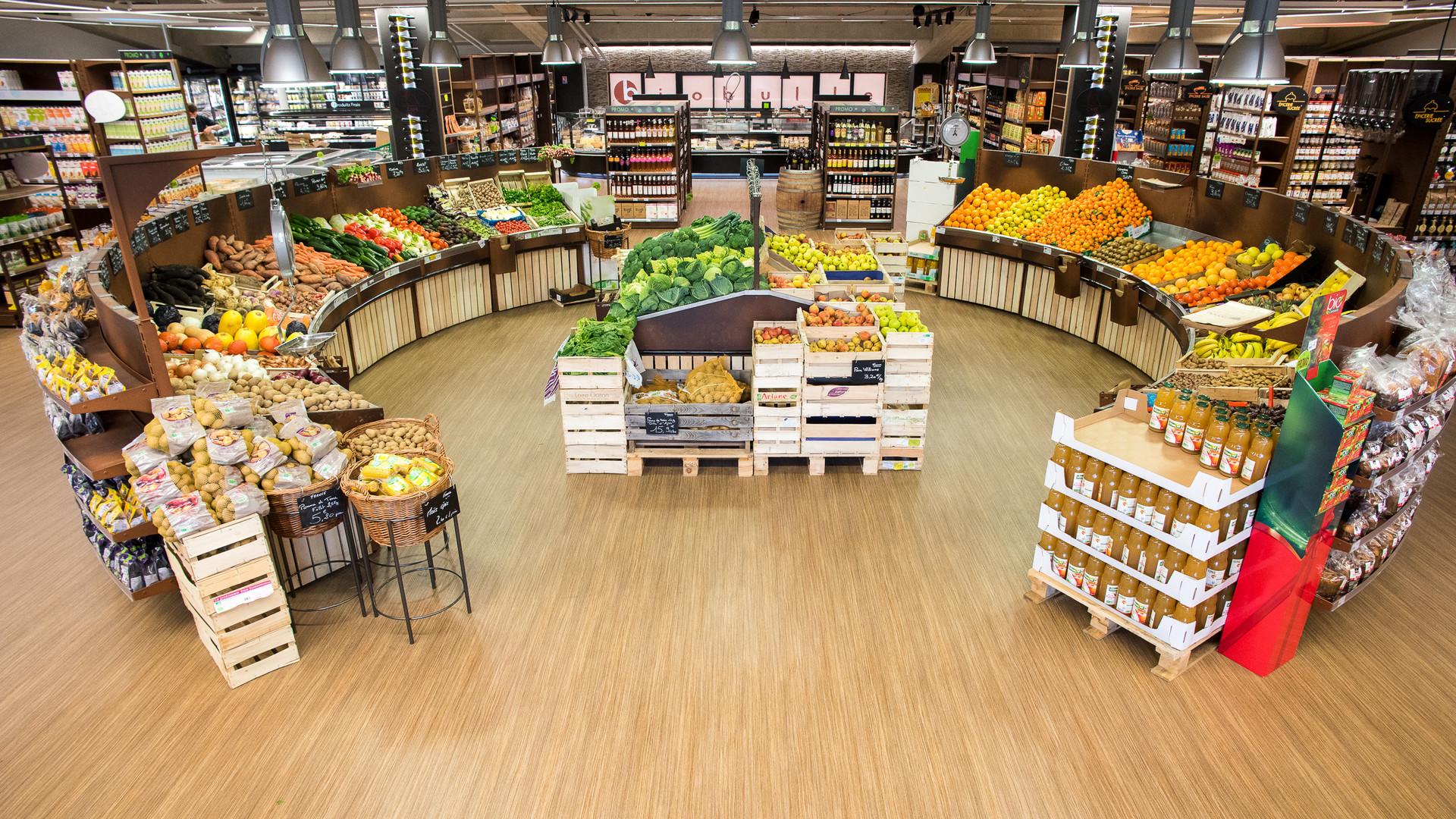 photo Carrousel fruit et légumes présentoire