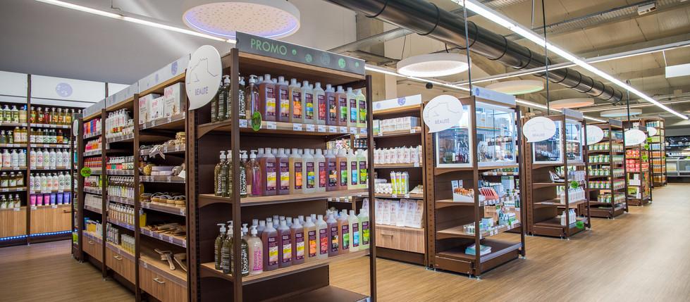 Gondole RETIF magasin bio Biobulle