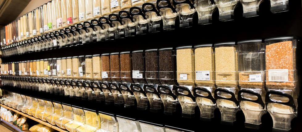 magasin bio dispenser vrac céréales biobulle