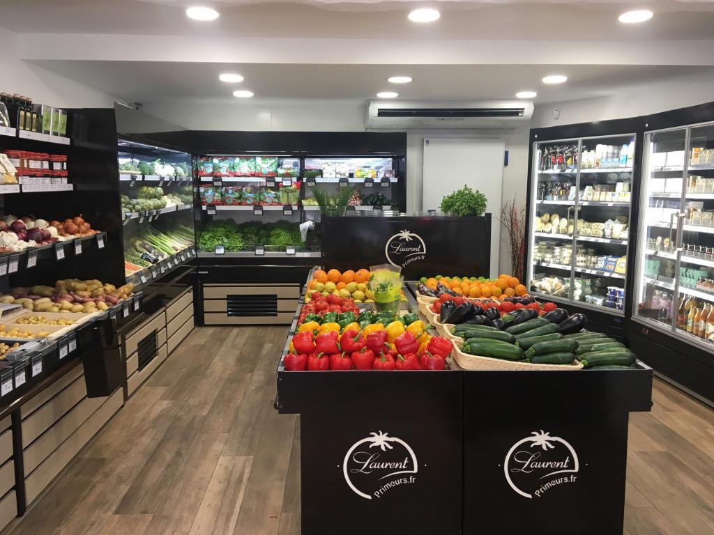 Zone de vente fruits et légumes Laurent Primeur