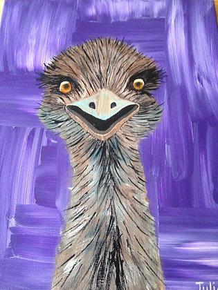 Eddie the Emu - Unframed Print