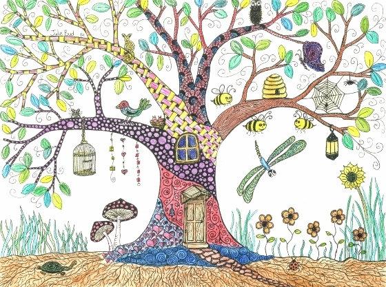 Happy Tree - Framed Original