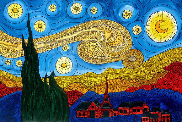 Twisted Starry Night - Unframed Print