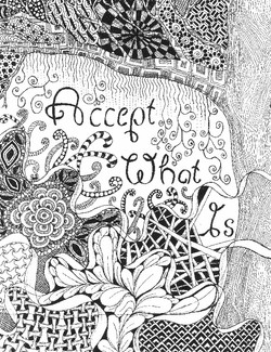 Accept what is-  Black and white