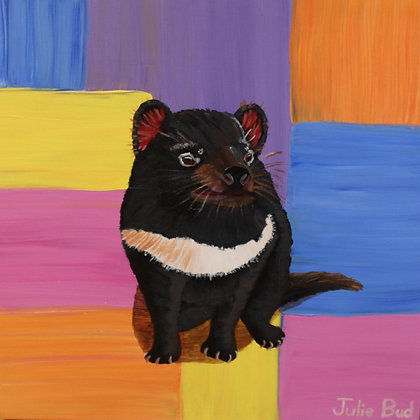 Tassie the Devil - Acrylic on Wrapped canvas