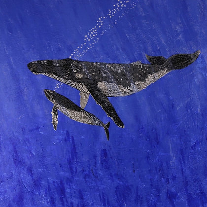 Humpback Whales- Acrylic on wrapped Canvas