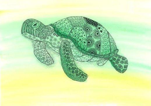 Turtle - Framed Original