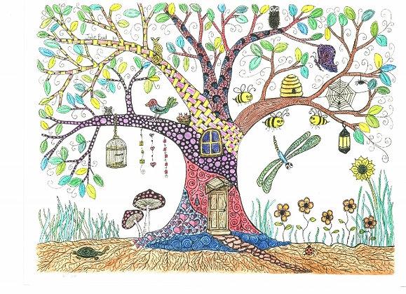 Happy Tree - Unframed Print