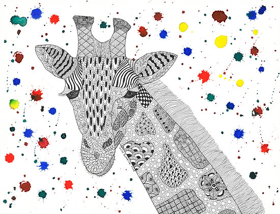 Giraffe - Unframed Print