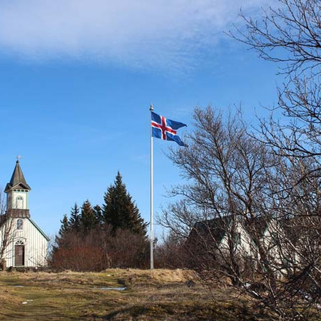 Nýársguðsþjónusta í Þingvallakirkju. Takk fyrir árið 2020.