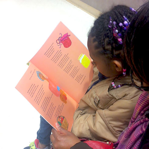 Amiyah and Mom Reading Together  12.18.2