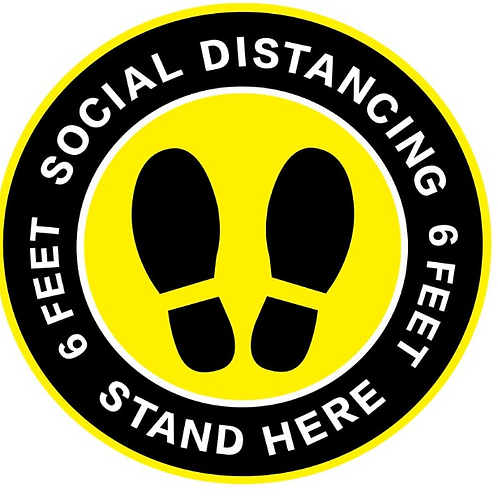 Social Distancing Floor Decal Stickers