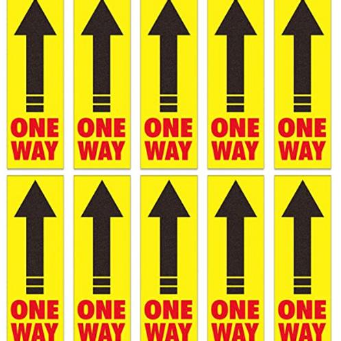 Directional Arrow Floor Sign, One Way Floor Stickers