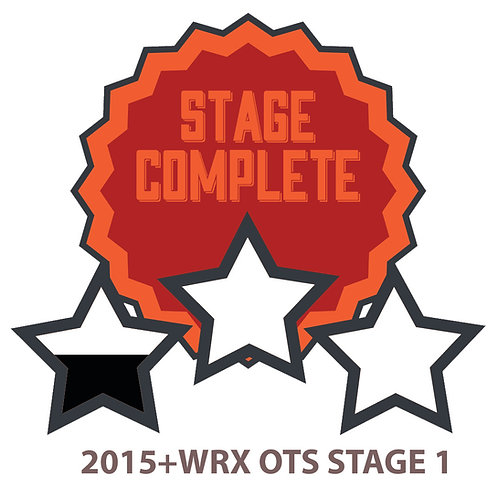 2015+ WRX/STI Stage 1 OTS Includes One Revision.
