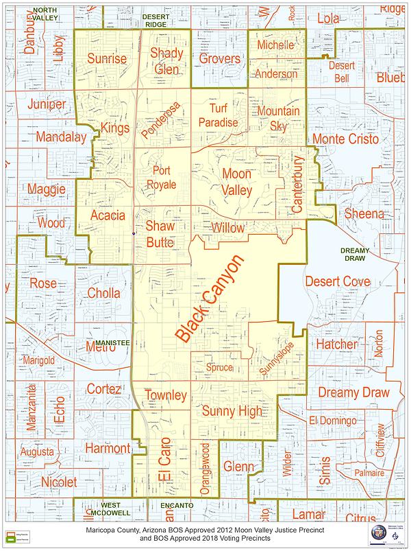 Map of Moon Valley Justice Precinct