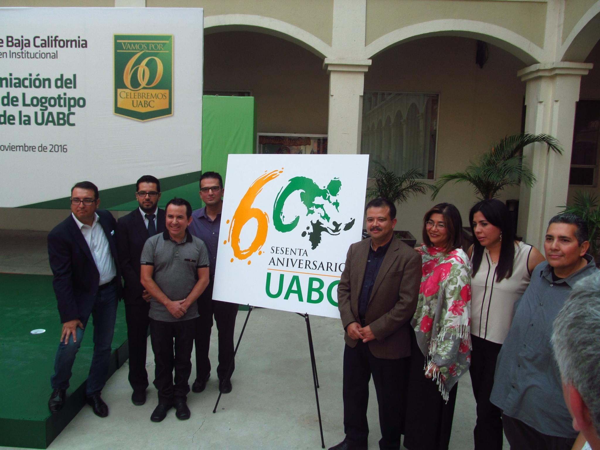logotipo sesenta aniversario uabc