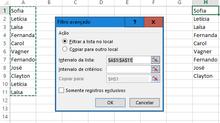 Filtro avançado do Excel: simples e  facilitador.